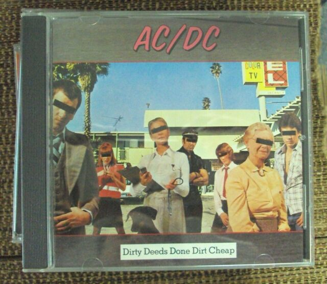 AC/DC Dirty Deeds Done Dirt Cheap CD mid-90s reissue hard