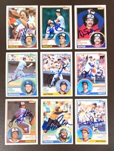 MIKE EASLER Pittsburgh Pirates 1983 Topps SIGNED / AUTOGRAPH Baseball Card