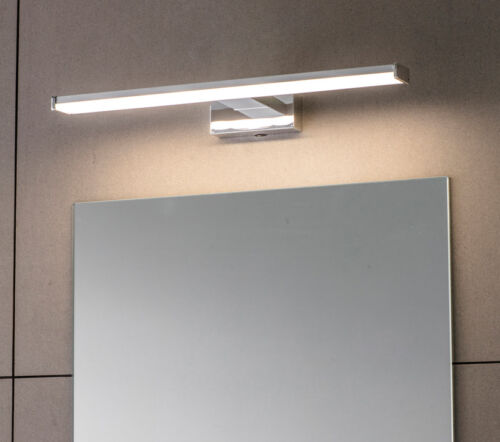 Endon Chrome LED Over Cabinet Mirror Picture Bathroom Wall IP44 8W Daylight 865