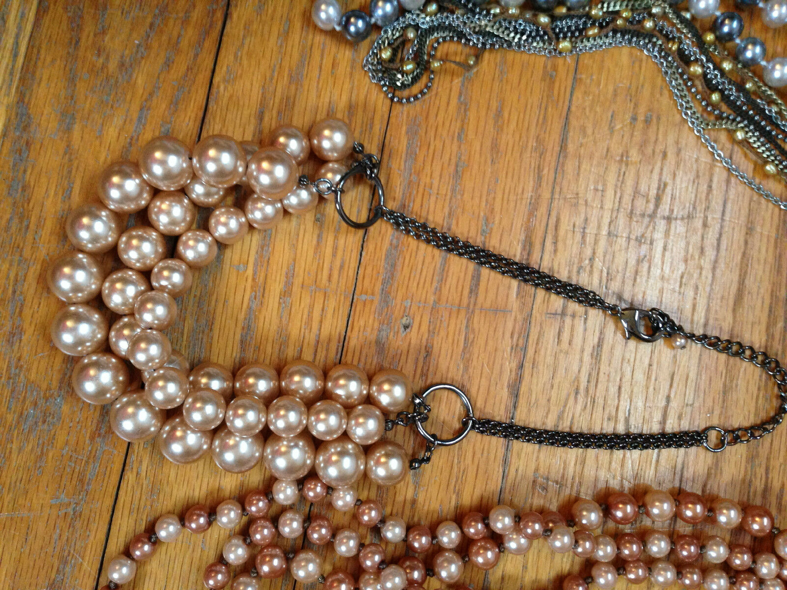 Costume Jewelry Lot Mixture of necklaces, and bra… - image 5