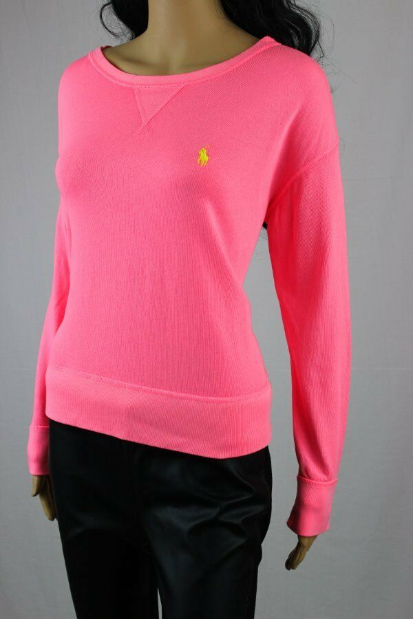 POLO Ralph Lauren French Terry SweatshirtNeon pinkNWT