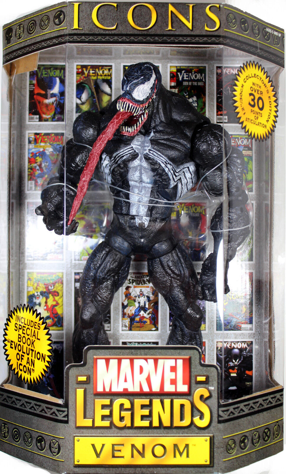 Marvel Legends Icons ~ 12  VENOM  MASKED  ACTION FIGURE  2006  ~ Toy Biz