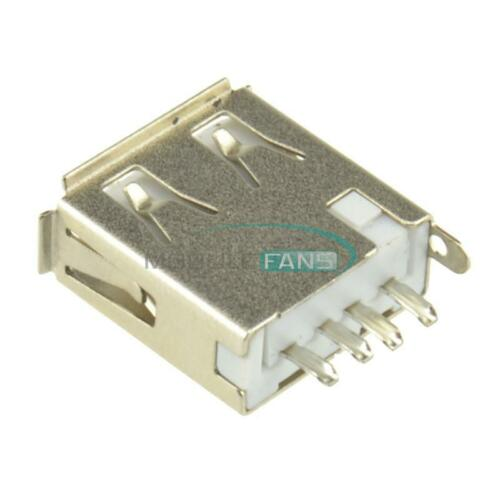 10pcs Type A female USB 4 Pin Plug Socket Connector/&Plastic Cover New