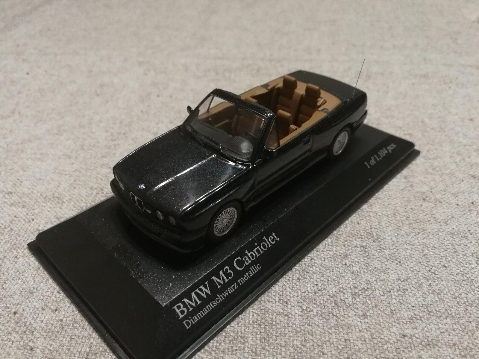 buena reputación BMW M3 M3 M3 Cabrio 1988 Negro Metalizado (MINICHAMPS) 1 43    Raro     Envio gratis en todas las ordenes