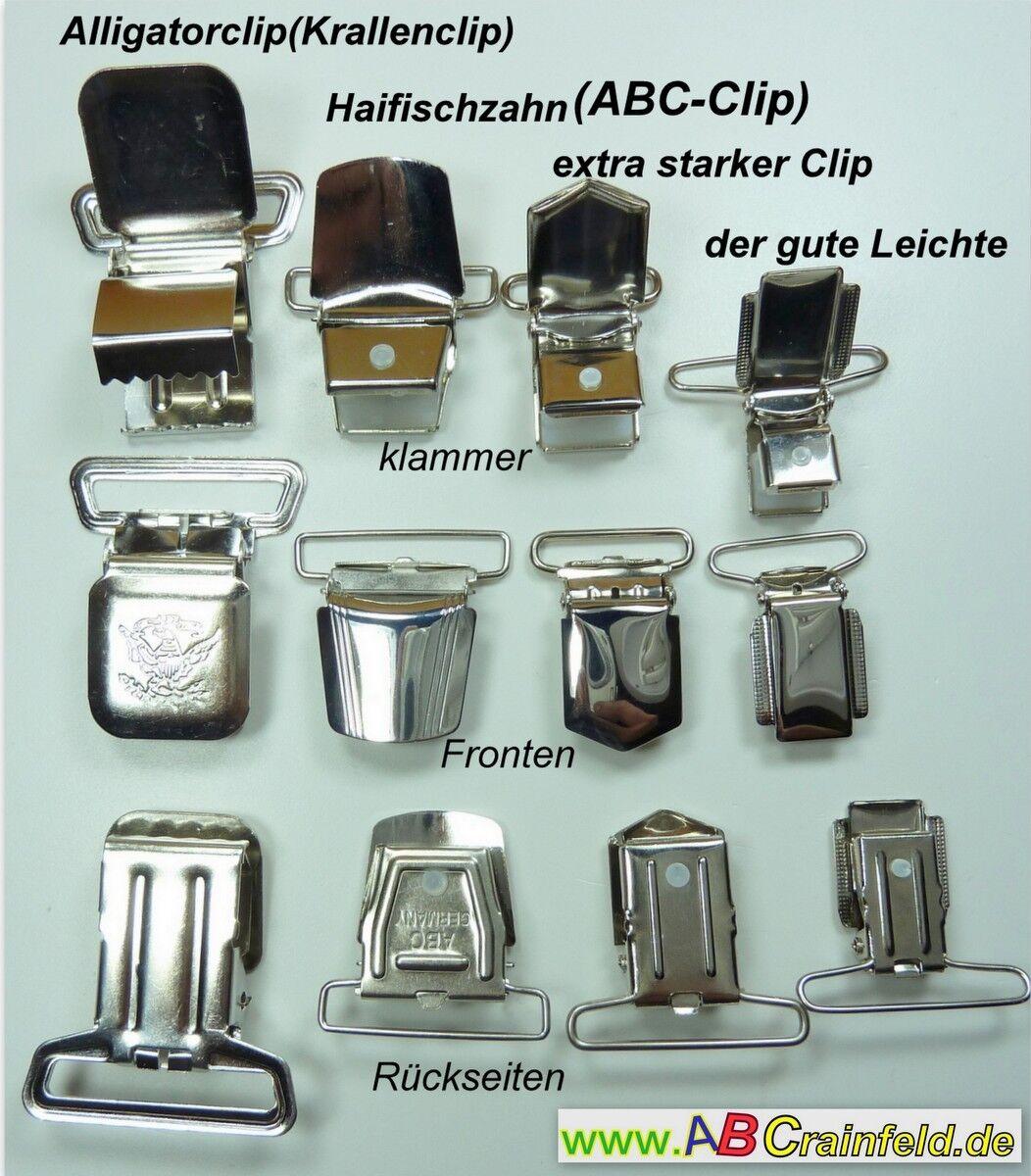 Diverse Diverse Diverse Hosenträgerclips, Klip, Krallenklip, Krokodilklip, ABC-Clip,Blitzversand | Überlegene Qualität  d810ab