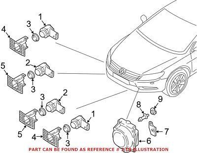Genuine Parking Sensor Holder Audi VW Ford Volvo Jaguar BMW 1S0919275 C E B D A