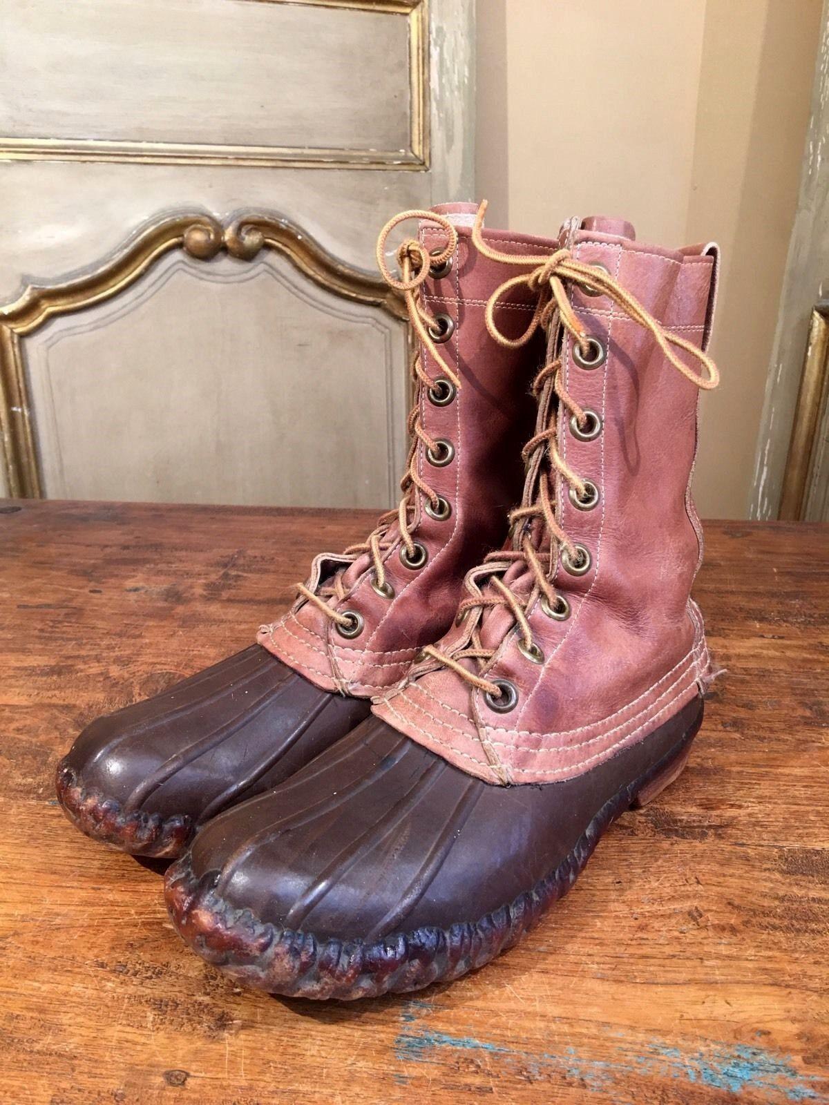 Vintage L.L BEAN MAINE CAZA botas Hombres 6 raro años 60 Etiqueta    OID Stock Perfecto