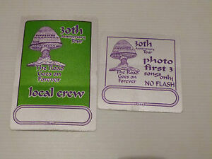 Allman-Brothers-30th-Anniversary-Tour-Satin-Cloth-LOCAL-CREW-Backstage-Pass-x2