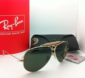 c5c8dc6421 Ray-Ban Sunglasses RB 3138 SHOOTER 001 62-09 Arista Gold w  Crystal ...