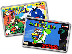 SUPER-MARIO-WORLD-amp-YOSHIS-ISLAND-Super-Nintendo-SNES-Cover-Art-Fridge-Magnet