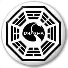 Small 25mm Lapel Pin Button Badge Novelty Dharma Initiative
