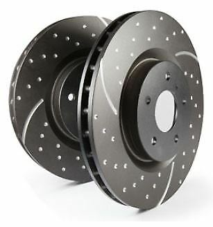 PAIR GD1635 EBC Turbo Grooved Brake Discs Front fit DACIA RENAULT