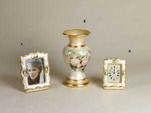 Portafoto Vaso E Orologio Da Tavolo Via Veneto Ceramica Les Catalogues Seront EnvoyéS Sur Demande
