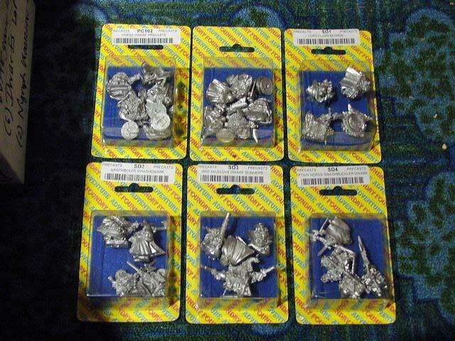 (6) Foundry Miniatures 28mm - Norse & Flash Beards& SwashDWARF+++ Precasts (NEW)