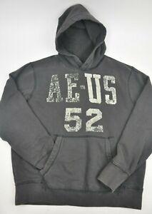 b301f52b6 AMERICAN EAGLE Black AE US 52 Hooded Sweatshirt Pullover Large ...