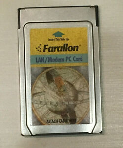 Farallon-LAN-Modem-PC-card-untested-for-parts