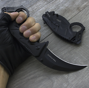 """8"""" Tac-Force Spring Open Assisted Folding Tactical Pocket Knife Karambit Claw"""