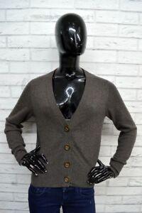 Cardigan-EMISPHERO-Donna-Taglia-Size-XL-Pullover-Maglione-100-CASHMERE-Woman
