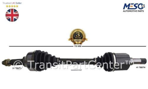 DRIVE SHAFT AXLE FORD TRANSIT TOURNEO CUSTOM 2.2 330 LEFT PASSENGER NEAR SIDE