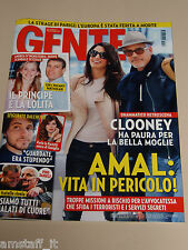 GENTE 2015/2=GEORGE CLOONEY=LEONARDO DICAPRIO=PINO DANIELE=EMMA MARRONE AMOROSO=