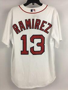 5c16379e5 NWT Men s HANLEY RAMIREZ Boston Red Sox WHITE Majestic Coolbase ...
