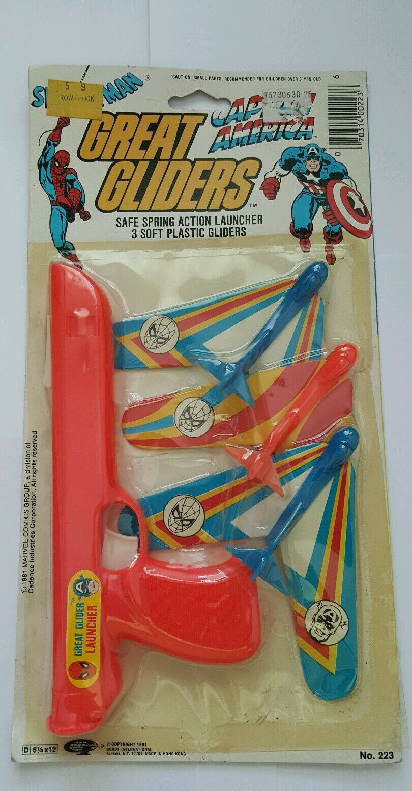 Great gliders 1981 spiderman captain america