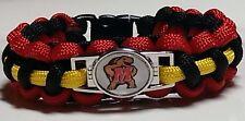 University of Maryland College Park Testudo Terrapins Handmade Paracord Bracelet