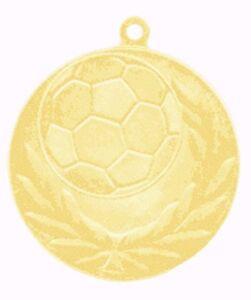 25er Set 60mm Fussball Medaillen Metall D13C Gold mit Band nur 24,25 EUR
