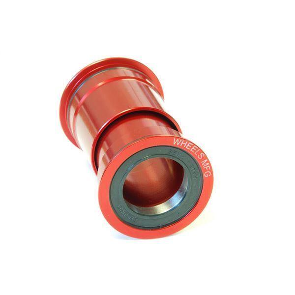 Wheels MFG PressFit 30 Angular Contact Bearing  - Red  in stock