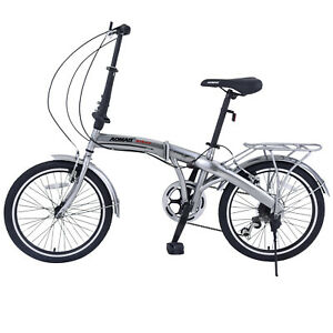 20-034-Folding-Front-Suspension-Mountain-Bike-Shimano-6-Speed-Sport-Bicycles-Silver