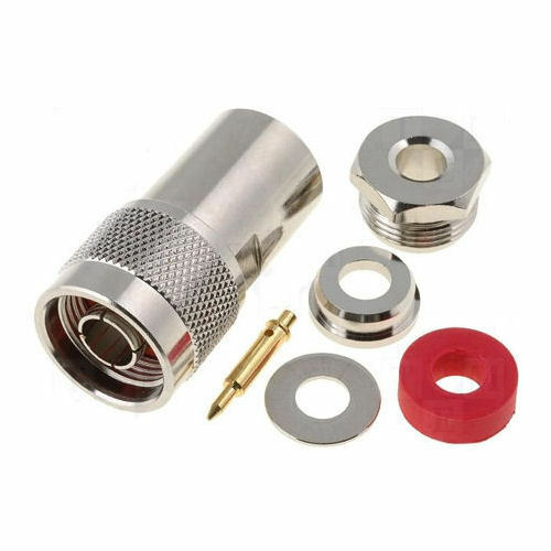N Male Connector for RG-8,9913,9913F7,LMR400,LMR400UF No Crimp Tool Required