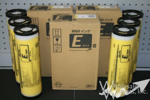 6 Genuine Riso S-7207 Yellow Ink Risograph S-4279 EZ MZ RZ MZ990 RZ990 S-7207U