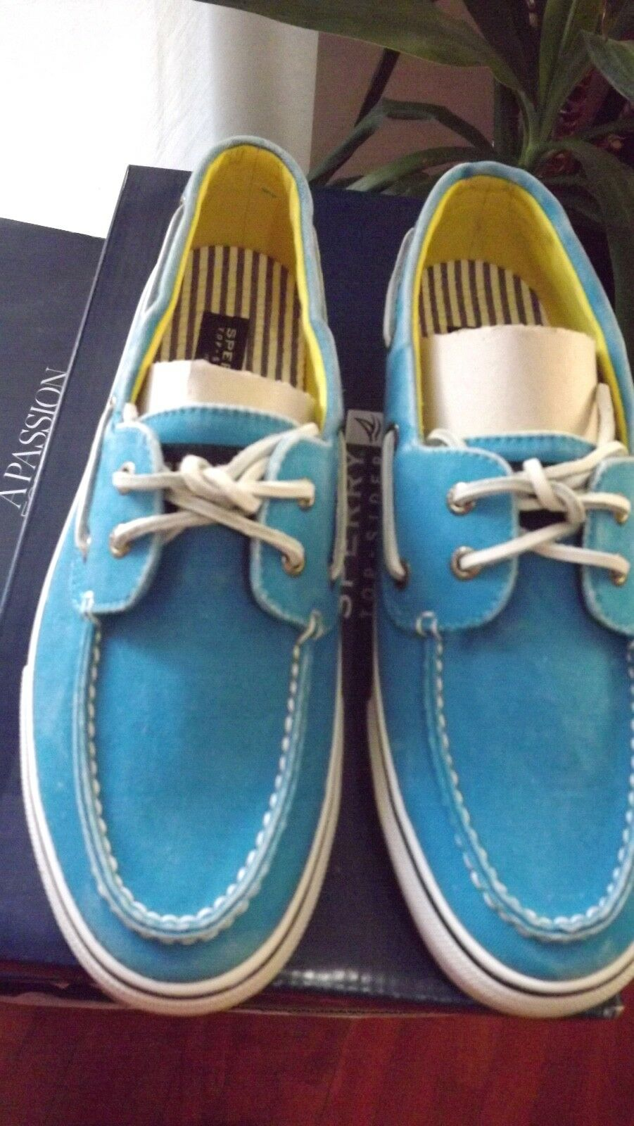 SPERRY shoes DA BARCA MARE NUOVE IN TELA CON PARA SOTTO 85,00 CARTELLINO 43,5