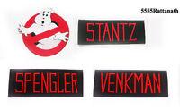 Free shipping 4 PCS GHOSTBUSTER VENKMAN STANTZ SPENGLER NAME TAG PATCH BADGE