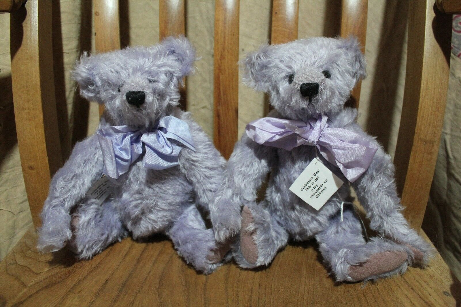 ARTIST BEAR BY SUSAN JANE COLLECTOR TEDDY 1X MELANIE lila 1 of 2