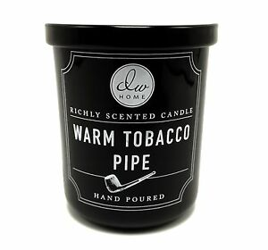 dw home warm tobacco pipe richly scented candle hand poured small 4 oz size ebay. Black Bedroom Furniture Sets. Home Design Ideas