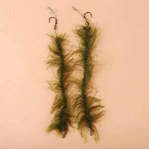 Weed Line Carp Fishing Rig Ready Made Hair Rigs Barbed Carp Hook Size 2#4#6#8#