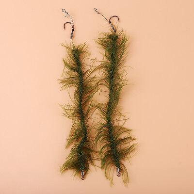 5 pcs Carp Fishing Hair Rigs Braid Barbed Hooks Rigs Ready Made Hair Combi  U3U1