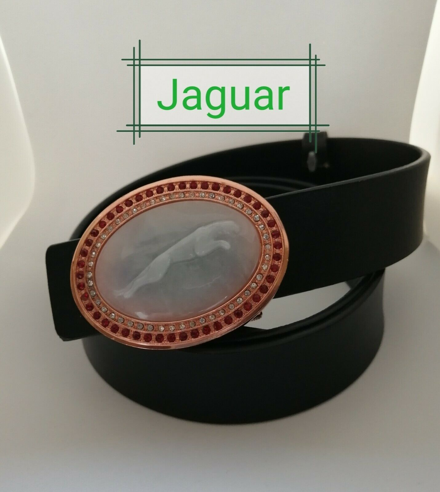 A grade jade with gold color belt buckle