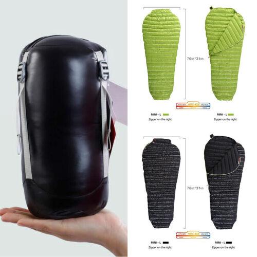AEGISMAX Mummy Down Sleeping Bag Outdoor Camping Ultralight Bag With Storage Bag