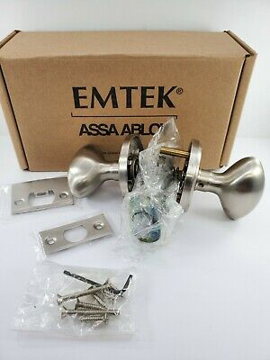 Emtek Passage Satin Nickel Egg Door Knob w// Regular Rosette