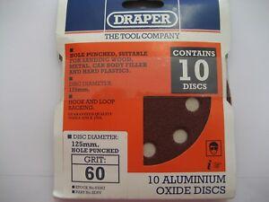 Charmant 10 X Draper Grain 60 Oxyde Aluminium Ponçage Disques 125mm Diamètre 63367 #r61
