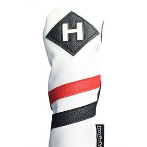 Majek-Retro-Golf-Hybride-Voile-Rouge-Blanc-Noir-Vintage-En-Cuir-Style