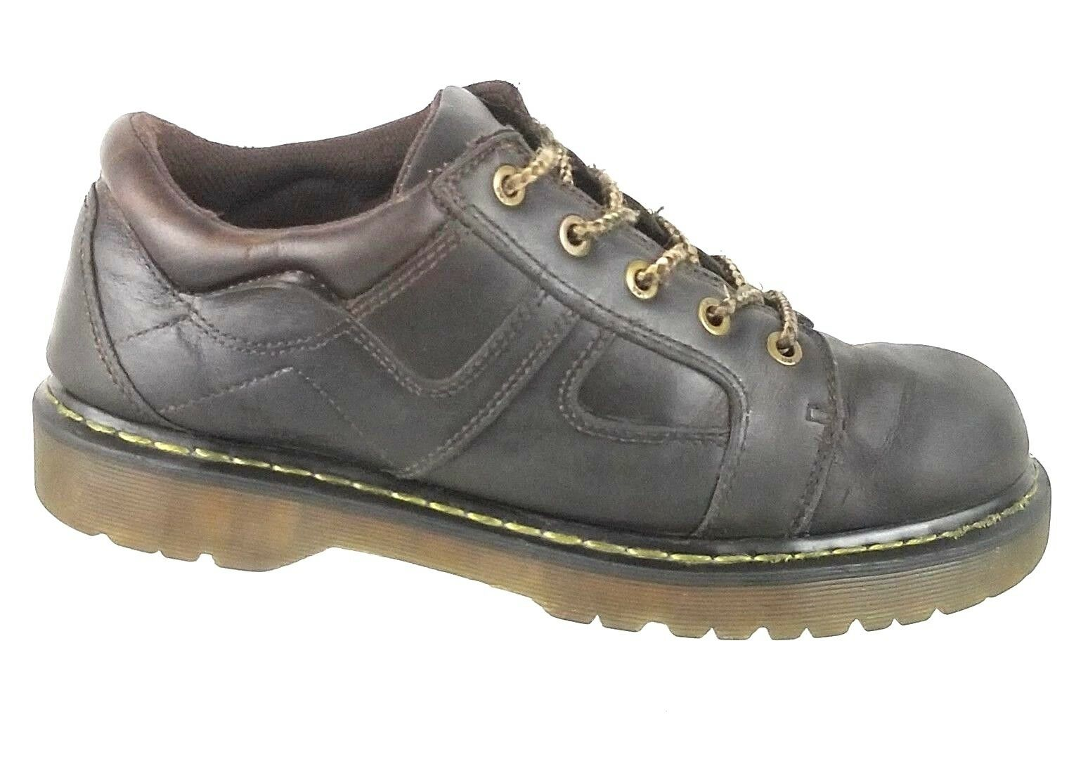 Dr. Doc Marten's Mens 12 M US 5 Eyelet Chunky Brown Leather shoes 9B08 BU004