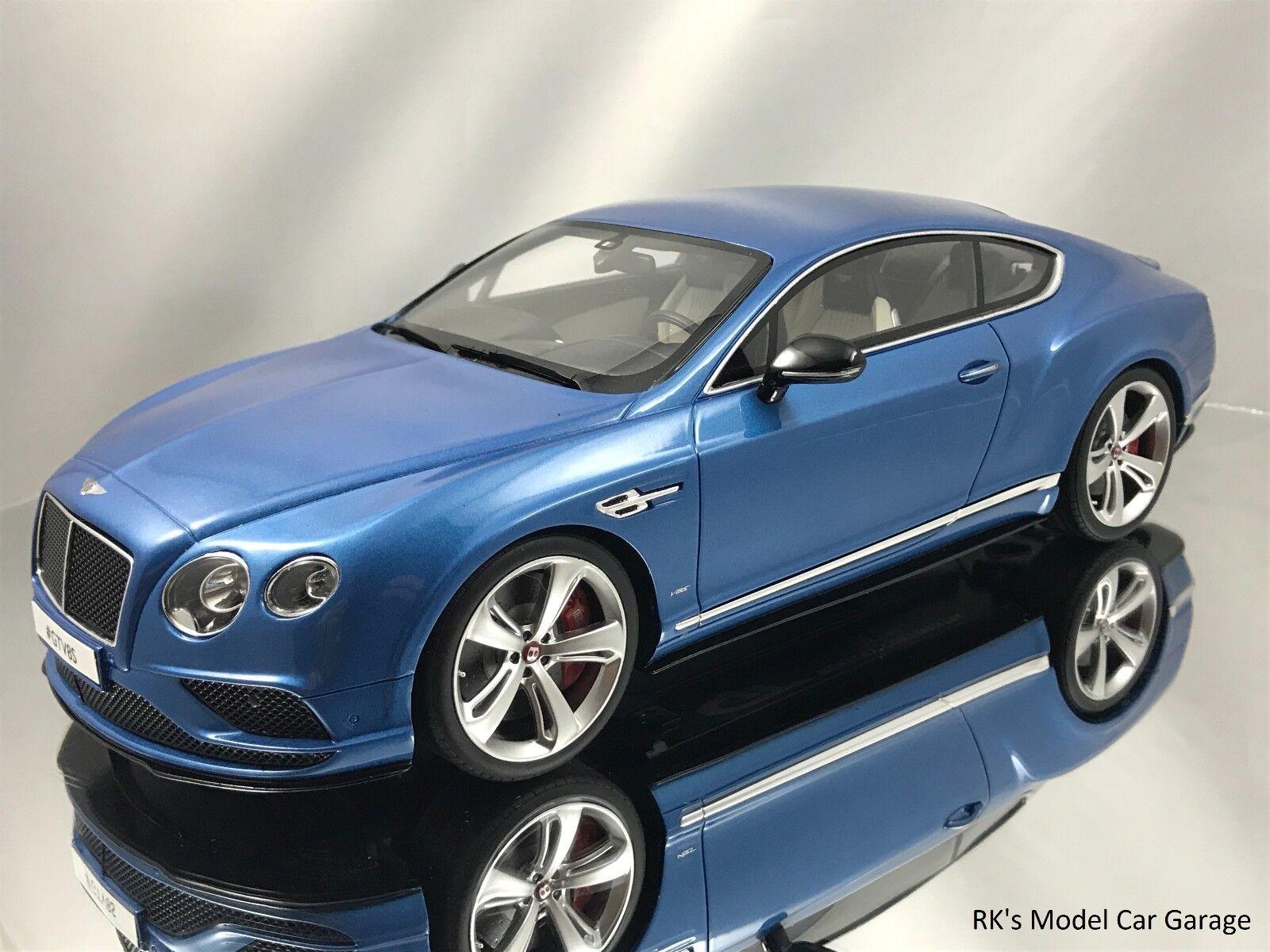 GT anda Bentley Continental GT V8 S hkonsts modellllerlerl Bil blå 1 18
