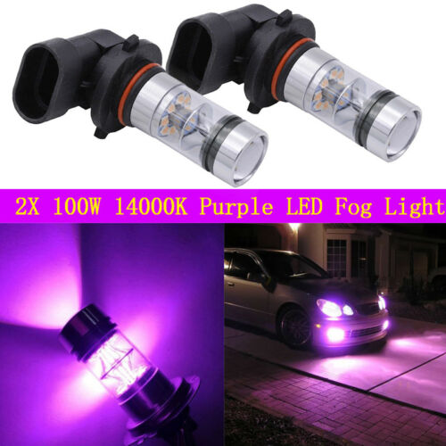 2X High Power 14000K Purple 100W LED Fog Lights Kit For Chevrolet Malibu 13-15
