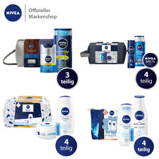 NIVEA Geschenkset Labello Gesichtscreme Kulturtasche Duschgel Deo Shampoo Lotion