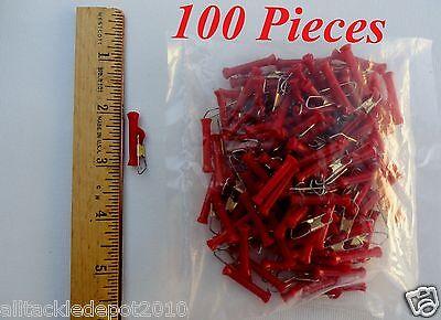 """100 Pieces 1.5/"""" Length Big Sinker Slides Sliders Red"""