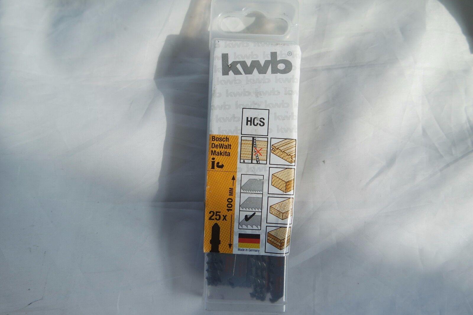 KWB 25  Stichsägeblätter Holz 620465 100mmx75mmx4,0mm HCS extra Holz