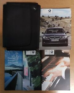 BMW-3-SERIES-E90-E91-SALOON-TOURING-HANDBOOK-MANUAL-WALLET-2005-2008-PACK-H-675